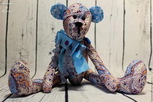 Игрушки животные, ручной работы. Ярмарка Мастеров - ручная работа. Купить Ароматный Мишка №3. Handmade. Голубой, ароматный подарок