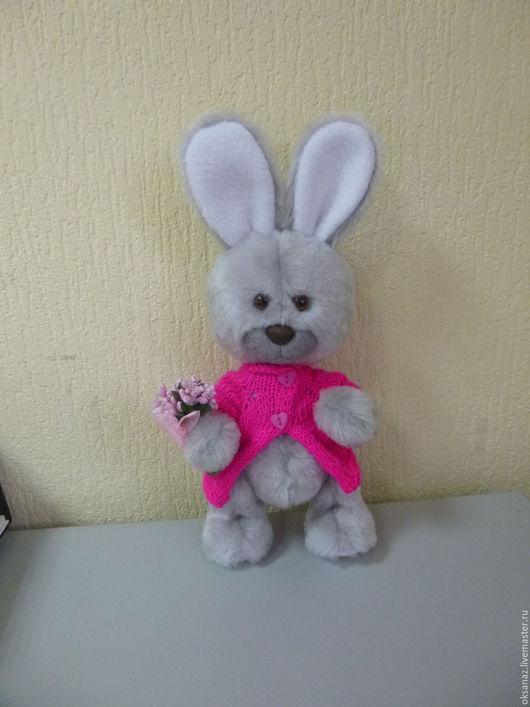 Мишки Тедди ручной работы. Ярмарка Мастеров - ручная работа. Купить Романтик. Handmade. Зайка, искусственный мех, шерсть