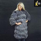 Одежда ручной работы. Ярмарка Мастеров - ручная работа Удлиненное пальто из ламы. Handmade.