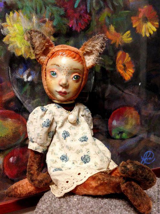 Коллекционные куклы ручной работы. Ярмарка Мастеров - ручная работа. Купить Тедди долл Лисичка Люси(31 см). Handmade. Рыжий