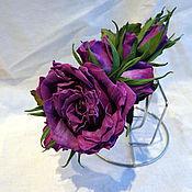 Украшения ручной работы. Ярмарка Мастеров - ручная работа Обруч с розами. Handmade.
