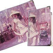Канцелярские товары handmade. Livemaster - original item Passport cover, cover (skin), a series of