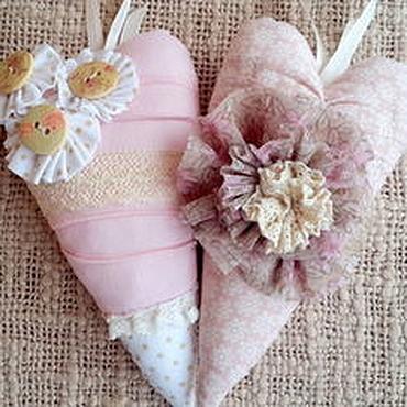 Куклы и игрушки ручной работы. Ярмарка Мастеров - ручная работа Тильда-сердечки. Handmade.