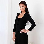 Одежда handmade. Livemaster - original item Dress black knit Jersey. Handmade.