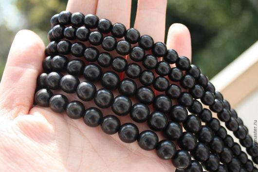 Для украшений ручной работы. Ярмарка Мастеров - ручная работа. Купить Эбеновое дерево черное, 5 мм, 8 мм и 10, 12 мм. Handmade.