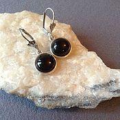 Украшения handmade. Livemaster - original item Classic earrings with black agate.. Handmade.