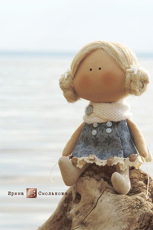 Человечки ручной работы. Ярмарка Мастеров - ручная работа. Купить текстильная куколка-малышка. Handmade. Тёмно-синий, куклы текстильные