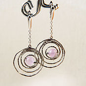 Украшения handmade. Livemaster - original item Earrings with amethyst