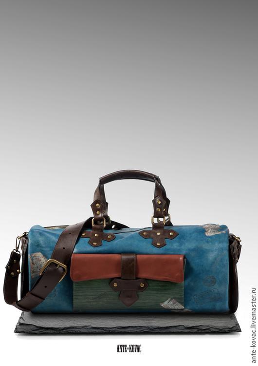 """Мужские сумки ручной работы. Ярмарка Мастеров - ручная работа. Купить Сумка №33 """"Vincent"""". Handmade. Синий, подарок мужчине"""