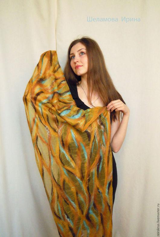 """Шарфы и шарфики ручной работы. Ярмарка Мастеров - ручная работа. Купить шарф """"Южный ветер"""". Handmade. Шарф женский, коричневый"""