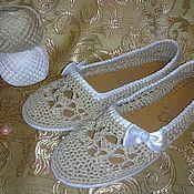 """Обувь ручной работы. Ярмарка Мастеров - ручная работа Балетки"""" Горячий песок"""". Handmade."""