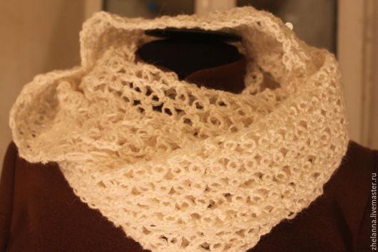 Шарфы и шарфики ручной работы. Ярмарка Мастеров - ручная работа. Купить Снуд, шарф. Handmade. Белый, шарф женский