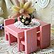 Кукольный дом ручной работы. Ярмарка Мастеров - ручная работа. Купить Кукольная мебель Лавандушка. Шебби. Handmade. Розовый