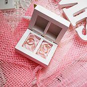 Свадебный салон ручной работы. Ярмарка Мастеров - ручная работа Rose dreams - свадебная шкатулка для обручальных колец с 2 отделениями. Handmade.