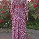 Платья ручной работы. Платье-ампир из штапеля в красно-белых тонах.. Коробейница (korobejnitsa). Интернет-магазин Ярмарка Мастеров. кружево
