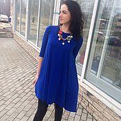 """Одежда ручной работы. Ярмарка Мастеров - ручная работа -50%Стильное платье с колье в комплекте""""Синева"""". Handmade."""