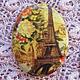 Для украшений ручной работы. Ярмарка Мастеров - ручная работа. Купить Кабошон Осень в Париже 30х40мм, фарфор. Handmade. Камея