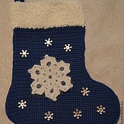 Подарки к праздникам handmade. Livemaster - original item Blue Christmas boot. Handmade.