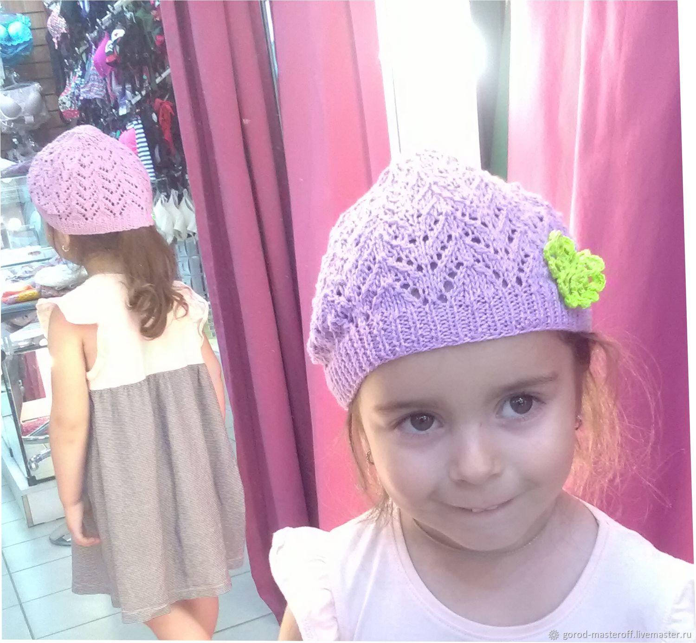 Одежда для девочек, ручной работы. Ярмарка Мастеров - ручная работа. Купить Летняя шапочка вязаная ажурная. Handmade. Шапочка ажурная