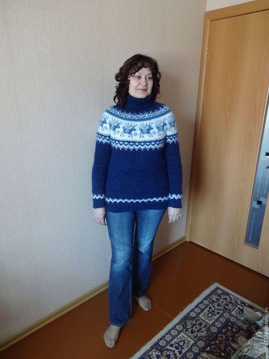 Кофты и свитера ручной работы. Ярмарка Мастеров - ручная работа. Купить Свитер женский. Handmade. Тёмно-синий, свитер женский