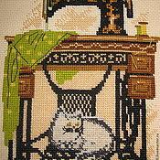 """Картины и панно ручной работы. Ярмарка Мастеров - ручная работа """"Кошкино счастье"""".Вышивка. Handmade."""