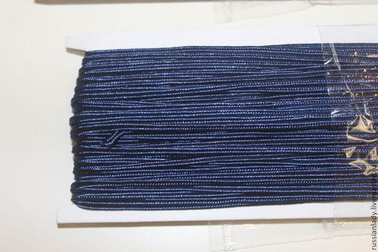 Для украшений ручной работы. Ярмарка Мастеров - ручная работа. Купить Шнур сутажный 3 мм. Handmade. Тёмно-синий