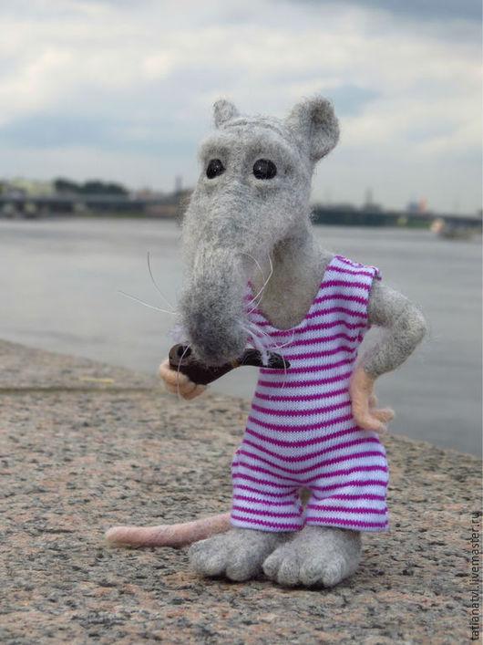 Игрушки животные, ручной работы. Ярмарка Мастеров - ручная работа. Купить Корабельная крыса Дедушка Морре Мак`Крыс, валяная крыса, игрушка. Handmade.
