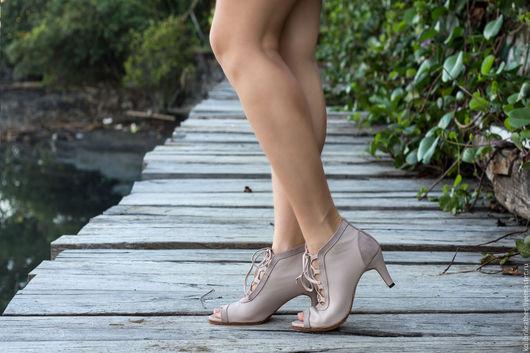 Обувь ручной работы. Ярмарка Мастеров - ручная работа. Купить Туфли на каблуке из натуральной кожи Michele . Женские кожаные туфли. Handmade.