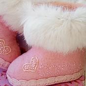 Обувь ручной работы. Ярмарка Мастеров - ручная работа Валенки именные детские. Handmade.