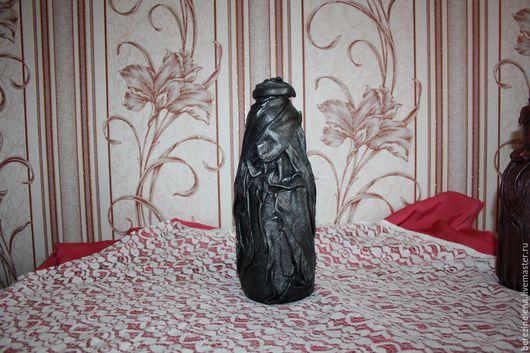 Подарочное оформление бутылок ручной работы. Ярмарка Мастеров - ручная работа. Купить Декоративная бутылка. Handmade. Серебряный, новоселье
