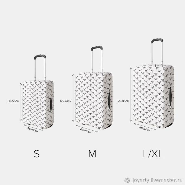 Чехол для чемодана «Ретро музыка» (S,M,L/XL)