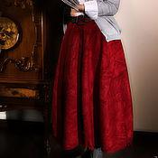"Одежда ручной работы. Ярмарка Мастеров - ручная работа Юбка валяная ""Красная"". Handmade."