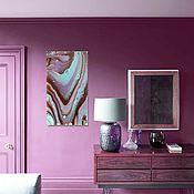 Картины и панно handmade. Livemaster - original item Chocolate mint. interior painting. abstraction. Handmade.