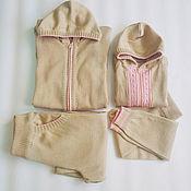 Одежда ручной работы. Ярмарка Мастеров - ручная работа Костюмы вязанные для мамы и ребёнка.. Handmade.