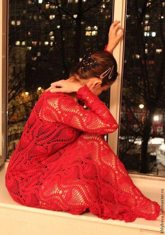 Платья ручной работы. Ярмарка Мастеров - ручная работа. Купить Платье. Handmade. Орнамент, платье вечернее, пряжа