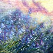 """Картины и панно ручной работы. Ярмарка Мастеров - ручная работа картина из шерсти """"На ветру"""". Handmade."""