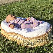 """Для дома и интерьера ручной работы. Ярмарка Мастеров - ручная работа """"Гнездышко"""" переносная люлька для новорожденных 2. Handmade."""