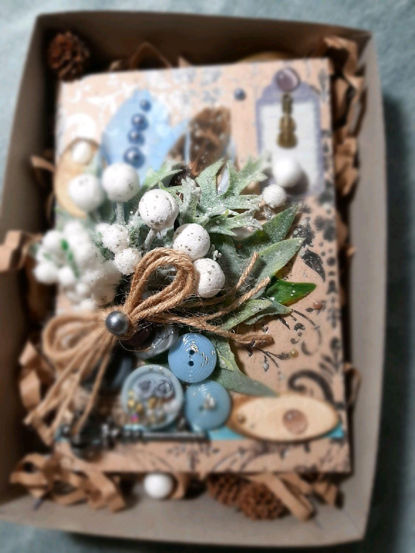 Крафт открытка в подарочной индивидуальной коробке, Открытки, Москва,  Фото №1