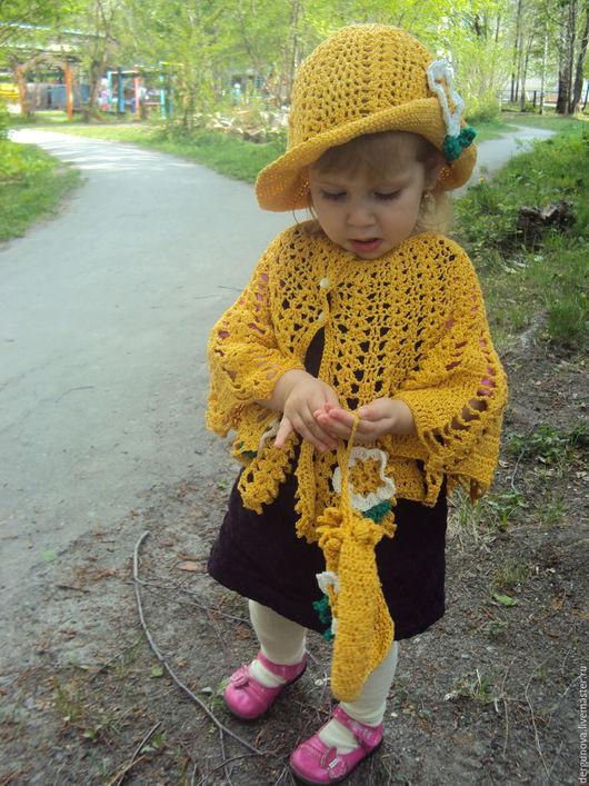 Одежда для девочек, ручной работы. Ярмарка Мастеров - ручная работа. Купить Комплект для девочки. Handmade. Желтый, сумочка, ажур