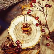 Украшения handmade. Livemaster - original item Aroma bottle made of birch wood for essential oils WP50. Handmade.