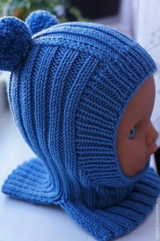 Шапки и шарфы ручной работы. Ярмарка Мастеров - ручная работа. Купить Шапочка-шлем для мальчика. Handmade. Голубой, шапочка, шлем