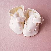 Винтаж ручной работы. Ярмарка Мастеров - ручная работа винтажные кукольные ботиночки. Handmade.