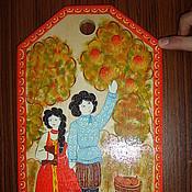 Для дома и интерьера ручной работы. Ярмарка Мастеров - ручная работа Разделочная доска городец. Handmade.