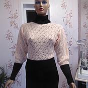 Одежда ручной работы. Ярмарка Мастеров - ручная работа Туника вязаная комбинированная. Handmade.