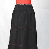 Одежда ручной работы. Ярмарка Мастеров - ручная работа Женская юбка из льна. Handmade.