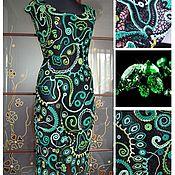 """Одежда ручной работы. Ярмарка Мастеров - ручная работа платье - """"Переливы изумруда"""". Handmade."""