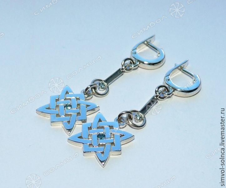 Star of Russia earrings with stone (2), Folk decorations, Sochi,  Фото №1