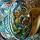 Комплекты украшений ручной работы. Заказать ,,Разве что с лешим.....,, кольцо. Наталья Орлова. Ярмарка Мастеров. Лаковая миниатюра, натуральные камни