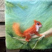 """Картины и панно ручной работы. Ярмарка Мастеров - ручная работа """"3-D""""- картина из шерсти в детскую :). Handmade."""