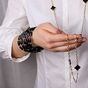 Украшения handmade. Livemaster - original item The black onyx bracelet. Handmade.